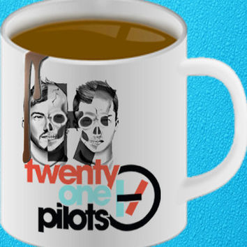 twenty one pilots 2, Coffee Mug, Tea Mug, Mug for Gift,mug coffee, mug tea, size 8,2 x 9,5 cm heppy coffee.