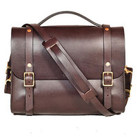 Art of Manliness Holiday Shop 2013 | Bexar Porter Satchel (Brown)