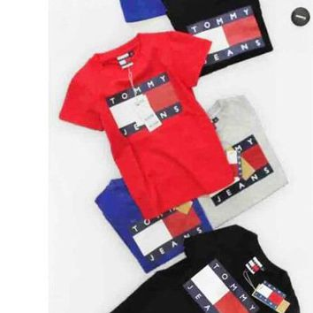 Tommy Hilfiger Classic Men's and Women's Tide Fashion T-Shirts F
