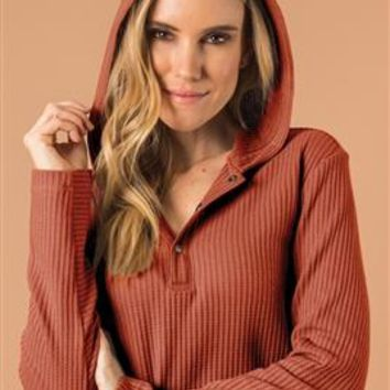 I Like You A Waffle Top with Hood by Simply Noelle
