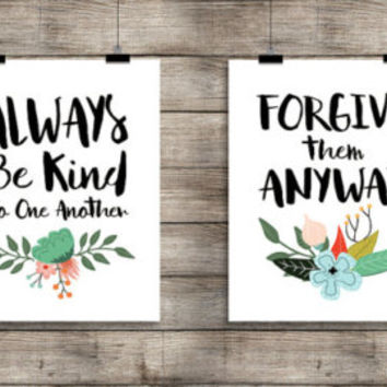 Thank God for My Family - Digital Download, Printable Quote, Inspiring Art, typography design, Scripture Art, Bible Verse, 2 versions