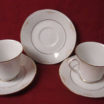 #Noritake, China Dinnerware Japan #Glendola  Pattern #:2220 set 2 Cup and saucer
