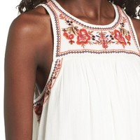 Sun & Shadow Embroidered Shift Dress | Nordstrom