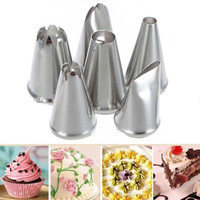 Azerin 6X DIY Stainless Steel Icing Piping Nozzles Pastry Tips Fondant Cup Cake Baking