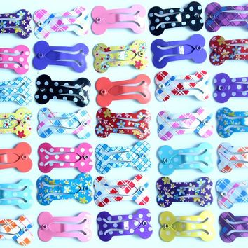20pcs/lot Bone Design Pet Dog Hair Clips 2.5CM  Pet Hair Grooming Accessories Pet Dog alloy Clip  for dogs
