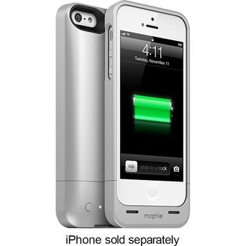 mophie - juice pack helium Charging Case for Apple® iPhone® 5 and 5s - Silver