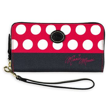 Disney Dooney & Bourke Minnie Mouse Rocks the Dots Wallet New with tags