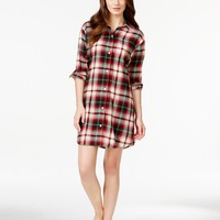 Lauren Ralph Lauren Long Sleeve Button Up Sleepshirt