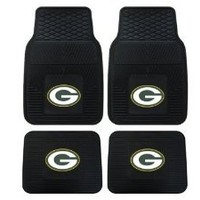 A Set of 4 NFL Universal Fit Front and Rear All-Weather Floor Mats - Green Bay Packers