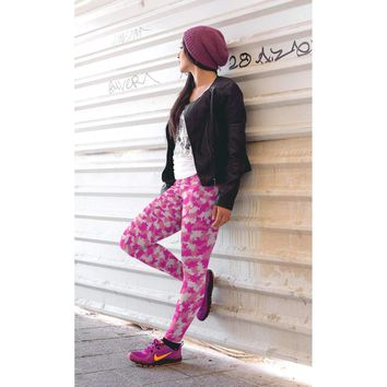 Pink Digital Camo Leggings - Womens and Mens