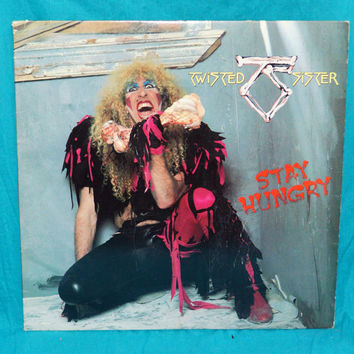 Vintage 80s Twisted Sister Stay Hungry Album Vinyl Record LP