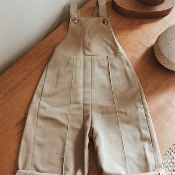 Vintage Olive Hand Made Dungarees | Size 12-18M
