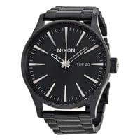Nixon SENTRY SS Black-plated Stainless Steel Mens Watch A356-001