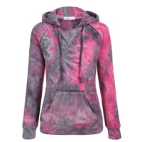 Hoodies Winter Gradient Long Sleeve Hats Sweater Jacket [9522171076]