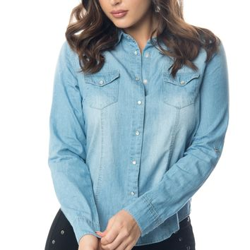 Lucy Denim Blouse