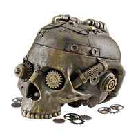 Design Toscano Steampunk Skull Containment Vessel Figurine