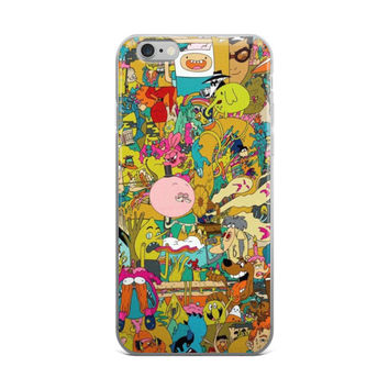 Cartoon Network Collage Adventure Time Scooby Doo Anime Paparazzi iPhone 4 4s 5 5s 5C 6 6s 6 Plus 6s Plus 7 & 7 Plus Case