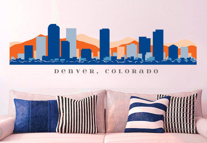 Nfl Denver Broncos Skyline Wall Decal From Americandecals