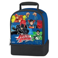 Justice League Thermos Brand Dual Lunch Bag  - Closeout