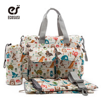 ECOSUSI Multifunctional Baby Diaper Bag Maternity Mother Bag Lager Capacity Baby Diaper Nappy Changing Bag Stroller Bag
