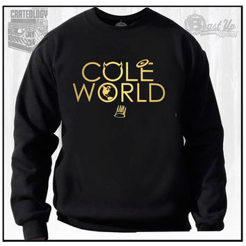 COLE WORLD CREW Neck Sweater  J Cole Dreamville Hip Hop Dj Gear