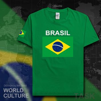 Brazil Brazilian t shirt men 2017 t-shirt tees 100% cotton nation team jerseys country tshirt fans gyms clothing brasil BRA tops 1