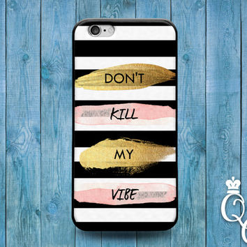 iPhone 4 4s 5 5s 5c 6 6s plus + iPod Touch 4th 5th 6th Gen Cute Black White Gold Vibe Hip Hipster Cool Phone Quote Cover Funny Fun Cool Case