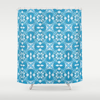 E2 Shower Curtain by Shelly Bremmer