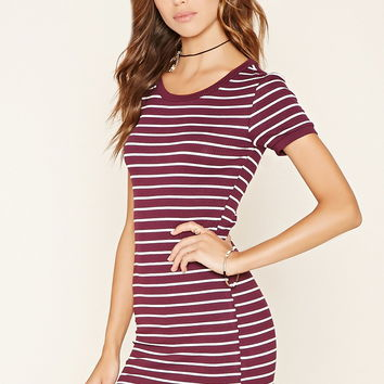 Stripe T-Shirt Dress | Forever 21 - 2000176483