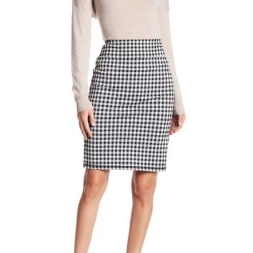 14th & Union | Gingham Ponte Skirt (Regular & Petite) | Nordstrom Rack