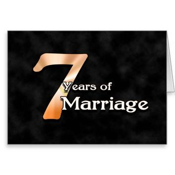 7 Years of Marriage (wedding anniversary) Card