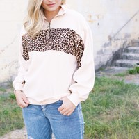 Animal Print Pullover, Natural Mix