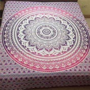 DCCKJG2 Indian Mandala Tapestry Wall Hanging Printed Beach Throw Towel Yoga Mat Table Cloth Bedding Outlet Home Decor 200x150cm