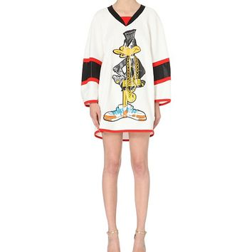 MOSCHINO - Daffy Duck cotton-jersey dress | Selfridges.com