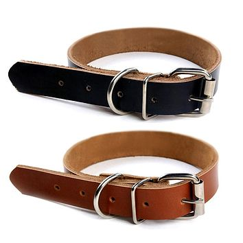 Fashion Pet Dog Cat Puppy Collar Neck Buckle Adjustable Faux Leather Strap