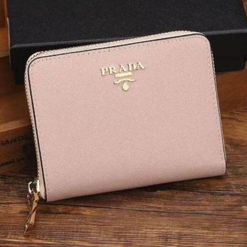 PEAPJ3V Prada Women Fashion Leather Zipper Wallet Purse-1