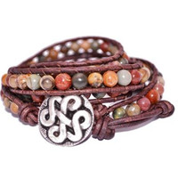 Earthy Leather Wrap Bracelet- By Leather Wraps