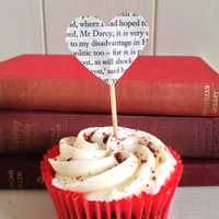 Pride And Prejudice Book Cupcake Toppers