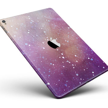 """The Grungy Purple and Orange Scratched Surface Full Body Skin for the iPad Pro (12.9"""" or 9.7"""" available)"""