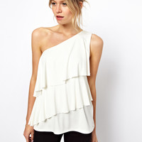 ASOS Top with One Shoulder and Ruffle Detail