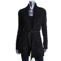 Guess Womens Knit Metallic Cardigan Sweater
