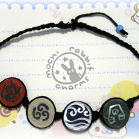 Avatar The Last Airbender Braided Bracelet by MochiRabbitCharms