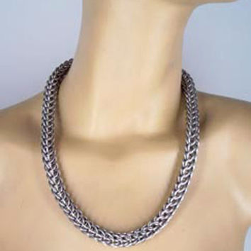 Persian Weave Chainmail Necklace