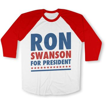Ron Swanson For President Baseball Tee
