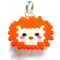 Beaded Lion Charm , Lion Necklace Pendant, Cute Animal Jewelry