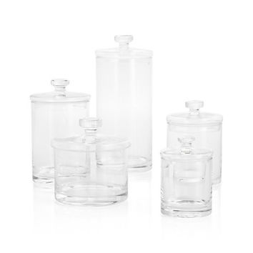 Set of 5 Glass Canisters