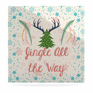 """Famenxt """"Jingle All The Way"""" Holiday Digital Luxe Square Panel"""