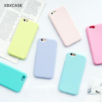 Silicone Frosted Matte Case for iPhone 6 6S 5 5S SE 8 Plus X Soft Back Cover for iPhone 7 7Plus