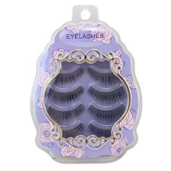 Sexy Hot Deal Thick Long Hot Sale Handcrafts Transparent Stalk Natural False Eyelashes [6532489671]
