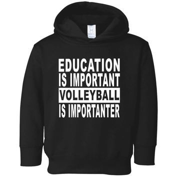 EDUCATION-IMPORTANT-VOLLEYBALL 3326 Rabbit Skins Toddler Fleece Hoodie